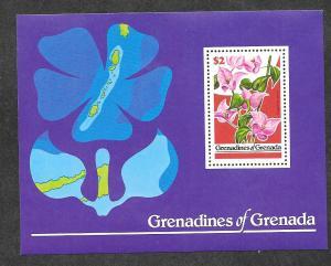 Grenada Grenadines MH S/S 317 Flowers Butterflies