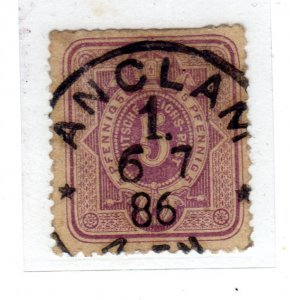 1879 -1880 Definitive - Value in 5 PFENNIGused sg40