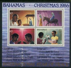 Bahamas 1986 Christmas S/S Sc# 624a NH
