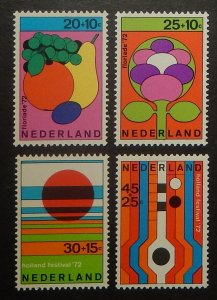 Netherlands B481-84. 1972 Summer Festivals, NH