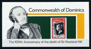 [105795] Dominica 1979 Sir Rowland Hill black penny Souvenir Sheet MNH
