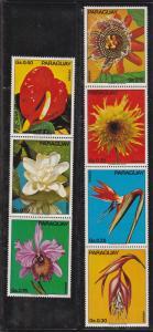 Paraguay # 1531, Flowers, Mint NH, 1/2 Cat