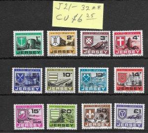 Jersey #J21-J32 MNH - Stamp Set - CAT VALUE $6.25
