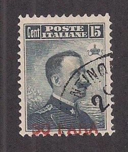 ITALY- OFFICES IN TURKISH EMPIRE  SC# 20  AVF/U  1908