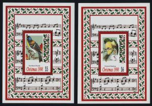 Dominica 2118-9 MNH Christmas, Birds, Music
