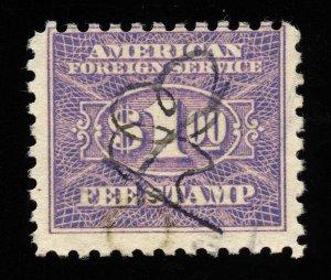 01779 U.S. Revenue Scott RK27 $1 Foreign Consular Service, perf 10, SCV = $47.50