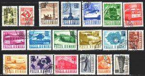Romania. 1967. 2639-57. Mail, standard, postal transport. USED.