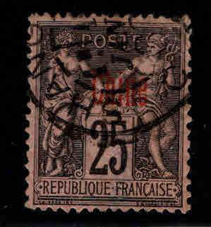 French office in China Scott 6 Used thin at bottom of stamp
