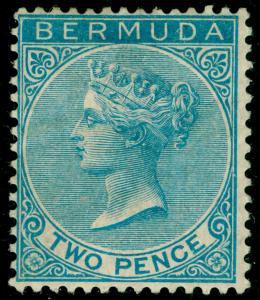 BERMUDA SG25, 2d Blue, M MINT. Cat £75.
