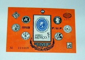Mexico - C345, MNH S/S. EFIMEX '68. SCV - $3.50