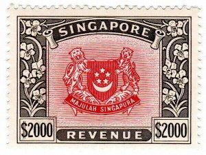 (I.B) Singapore Revenue : Duty Stamp $2000