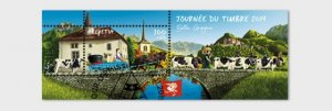 Switzerland 2019 Stamp Day Bulle - Miniature Sheet CTO
