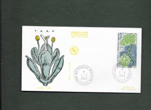 FRENCH ANTARCTIC 1993 FLORA FDC