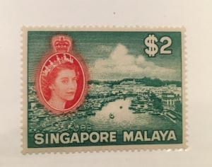 Singapore Scott 41 Two Dollars Mint