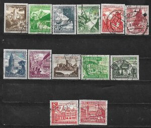 COLLECTION LOT OF 13 GERMANY SEMI POSTAL 1938+ STAMPS CV + $20