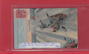 #106 2c UPU post card to LUXEMBOURG 1914 scarce Canadian cover destination
