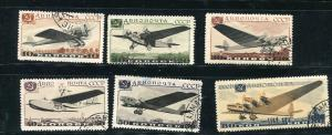 Russia 1937 Mi 571-6 Used Airmail 7081