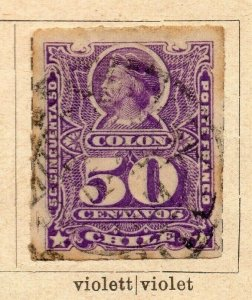 Chile 1877-78 Early Issue Fine Used 50c. NW-09254