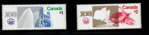 Canada Sc 687-88 1976 $1 & $2 Olympics stamps mint NH
