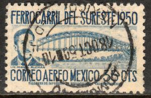 MEXICO C202, Opening Southeastern Railroad. Used. F-VF. (277)