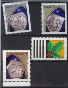 Canada USC #1585as to 1587as & 1588 Mint 1995 Christmas ex Bklt. NH