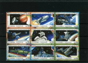 Sierra Leone MNH Block 1074 History Of Space Exploration 1989