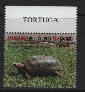 PANAMA  818  MNH TORTOISES SURCHAGED 1995
