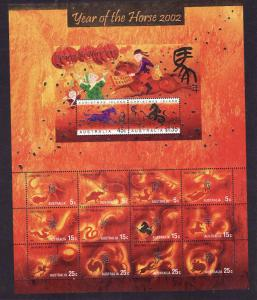 Christmas Is.-Sc#442-unused NH sheet-Chinese New Year of the Ram-2003-