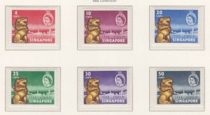 SINGAPORE, 1959 New Constitution set of 6, mnh.