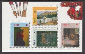 Ireland 890b Paintings Souvenir Sheet MNH VF