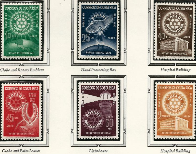 Rotary International Costa Rica C246-51 MNH F-VF...High Quality Collectable!