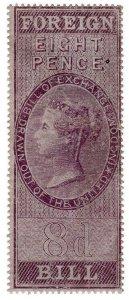 (I.B) QV Revenue : Foreign Bill 8d (1854)