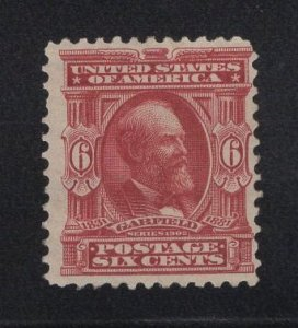 US Stamp Scott #305 Mint Previously Hinged SCV $60