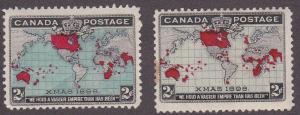 Canada # 85-86, Mint Heavy hinged, Quarter Cat
