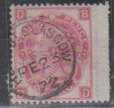 SG: 102/3 Plate 7 (BD)  used  Glaasgow Scotland  1871