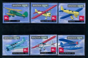 [101626] Bhutan 2000 Aviation aircrafts  MNH