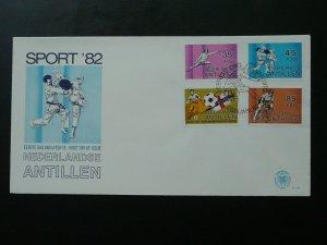 martial arts judo fencing cycling football 1982 FDC Netherlands Antilles 87151