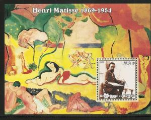Chad 957 2002 Matisse Paintings s.s. MNH