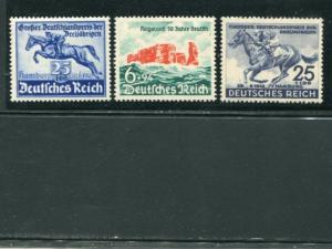 Germany #B172, B176, B204 Mint VF NH -   LSP