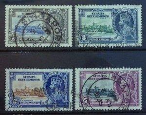 MALAYA STRAITS SETTLEMENTS 1935 SILVER JUBILEE FINE USED SET SG256/259 CAT £21