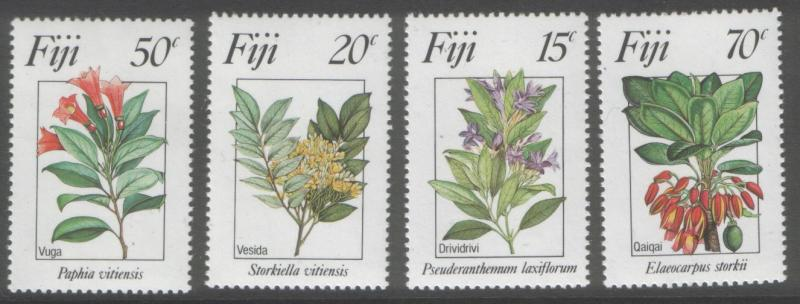 FIJI 1984 Flowers never hinged mint SG680/83 cat £2.25=$4.50