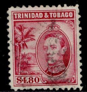 TRINIDAD & TOBAGO GVI SG256, $4.80 rose-carmine, USED. Cat £40.