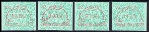 Hong Kong - ATM - Label - FRAMA 1987 - Year of the Rabbit MNH (Machine II)