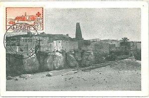 38786  - ALGERIA  - Postal History - MAXIMUM CARD 1952 Architecture RED CROSS