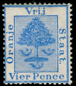 SOUTH AFRICA - Orange Free State SG18, 4d pale blue, M MINT. Cat £25.