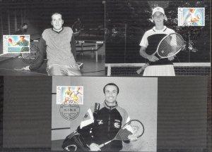 Liechtenstein 1999 Sport 9 Maxi Cards FDC 3 scans