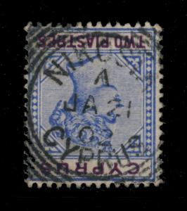 CYPRUS - SG43 CANCELLED NIKOSIA SQUARED CIRCLE DATE STAMP