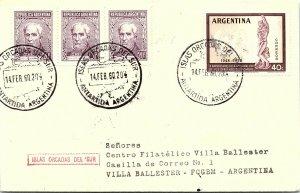 ARGENTINA ARCTIC ANTARCTIC POLAR CANCEL / CACHET #137