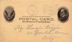 United States, Government Postal Card, New Jersey