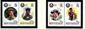 Montserrat 966-67 MNH 1998 Overprints on Boy Scout set